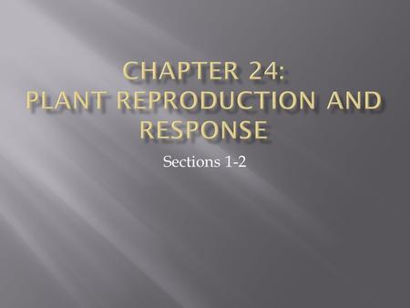 Sections 1-2.  Reproductive structures made of specialized leaves.