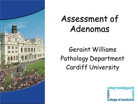 Assessment of Adenomas Geraint Williams Pathology Department Cardiff University.