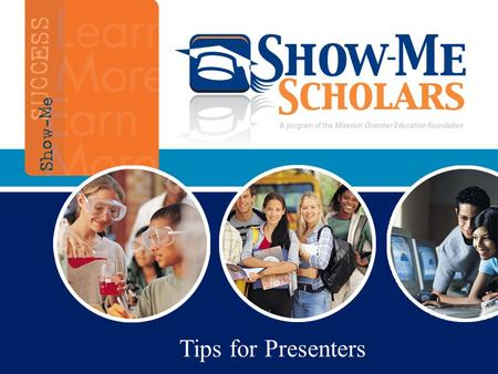 "Tips for Presenters. Objective of Presentations Student presentations normally made within 2 weeks of ""course sign-up day"" for high school Parent presentations."