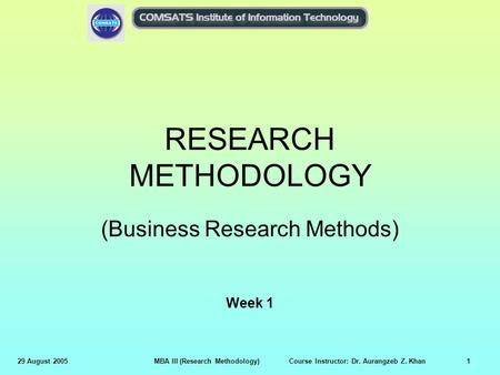 (Business Research Methods)