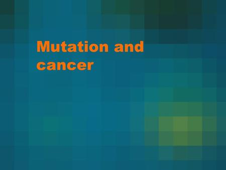 Mutation and cancer. DNA  RNA  protein  trait Genes contain the instructions necessary for a cell to work. If some of the instructions to the cell.