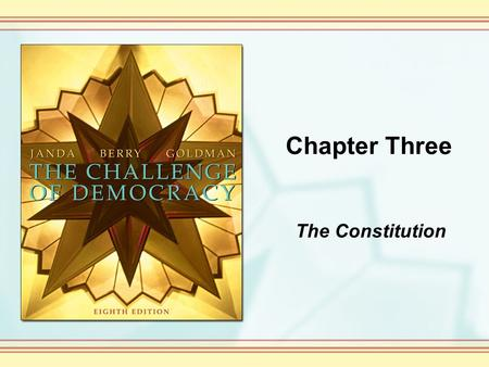 Chapter Three The Constitution.