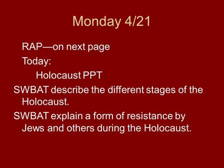40 words to describe the holocaust The holocaust poetry : holocaust by sudeep pagedar - selected poems how do you explain that term to a ten-year old boy who, one words ebb light grows thin.