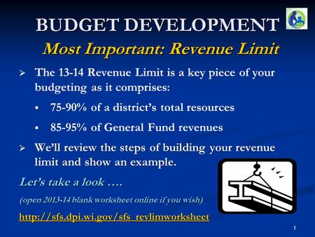   The 13-14 Revenue Limit is a key piece of your budgeting as it comprises:   75-90% of a district's total resources   85-95% of General Fund revenues.