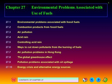 Chapter 27 Environmental Problems Associated with Use of Fuels