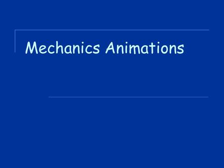Mechanics Animations. Average v Instantaneous Speed Instantaneous speed of your car is your speed at a particular instant in time. Average speed is a.