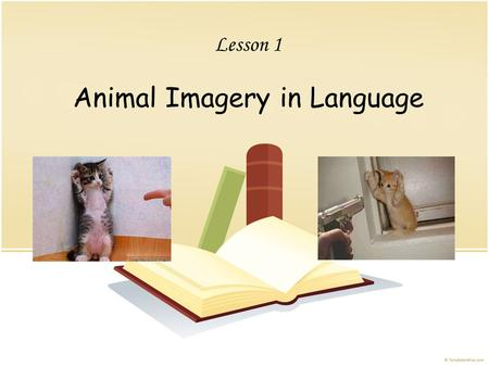 Lesson 1 Animal Imagery in Language. Organization Introduction Body 1 Body 2 Body 3 Body 4 Conclusion.