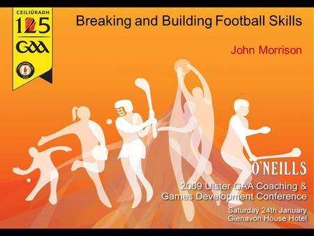 Breaking and Building Football Skills John Morrison.