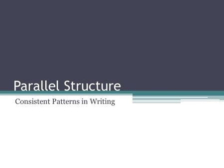 Consistent Patterns in Writing