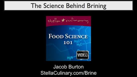 Jacob Burton StellaCulinary.com/Brine. What is a brine? Brine is a salt and water solution that food products, (most commonly meats), are soaked in to.