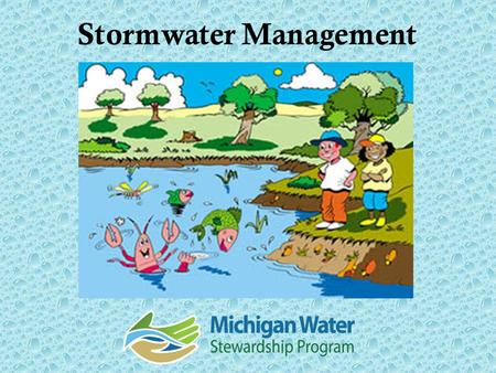 Stormwater Management 1.Reducing pollutants in runoff Pesticides and chemicals Pet and animal wastes Automotive wastes Winter salts and deicers Grass.