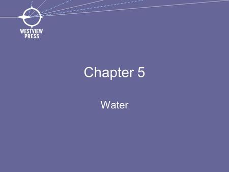 Chapter 5 Water. Point Source Pollution Comes from a specific source Can be monitored and controlled by a permit system.