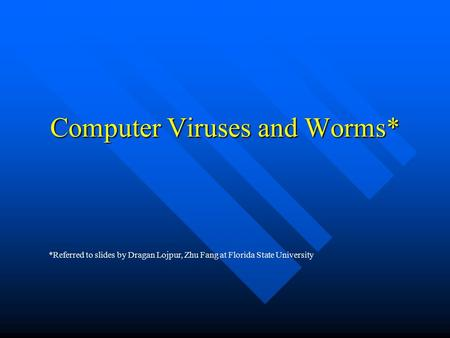 computer viruses research paper Research papers: computer viruses computer viruses are called viruses because they share some of the traits of biological viruses a computer virus passes from.