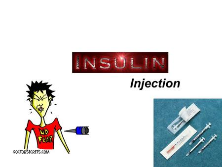 Injection. Photo of a typical juvenile diabetic before and after treatment.