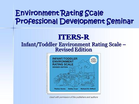 Environment Rating Scale Professional Development Seminar