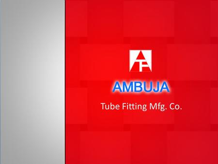 Tube Fitting Mfg. Co.. About Us Ambuja tube fitting is established with a dedicated Team of Instrument Engineers who have always found that instruments.
