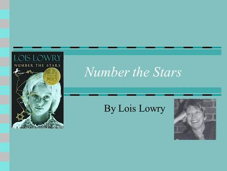 Number the Stars By Lois Lowry. What was it like to be best friends with a Jew…during Nazi-Denmark? Set in 1940's Denmark.