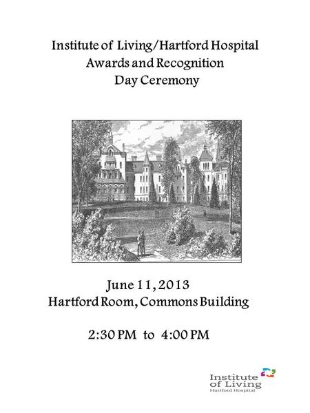 Institute of Living/Hartford Hospital Awards and Recognition