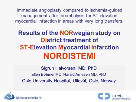 Immediate angioplasty compared to ischemia-guided management after thrombolysis for ST-elevation myocardial infarction in areas with very long transfers.