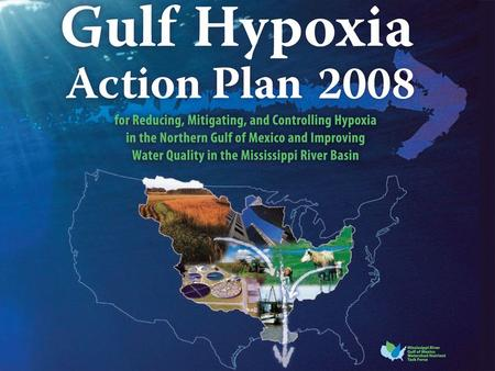 2 A large area of low oxygen that cannot sustain marine life. Hypoxia is a worldwide problem but is found in the Gulf of Mexico and is a result of nutrients,