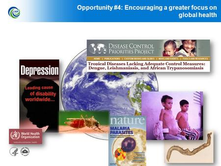 1 Opportunity #4: Encouraging a greater focus on global health.