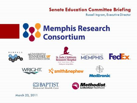 Senate Education Committee Briefing Russell Ingram, Executive Director March 23, 2011.
