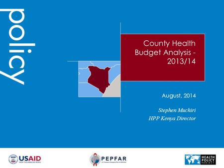 County Health Budget Analysis -2013/14