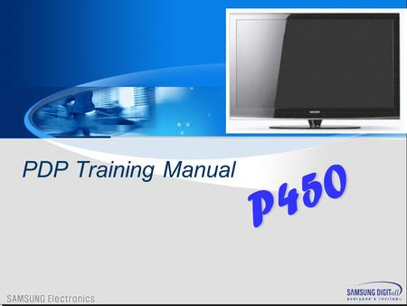 PDP Training Manual P450.