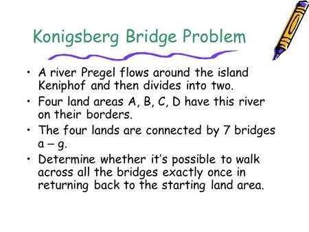 how to solve the konigsberg bridge