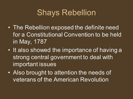 shays rebellion The digital public library of america brings together the riches of america's libraries, archives, and museums, and makes them freely available to the world.