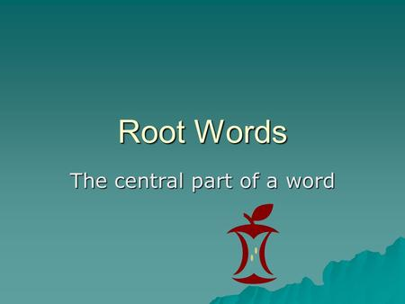 The central part of a word