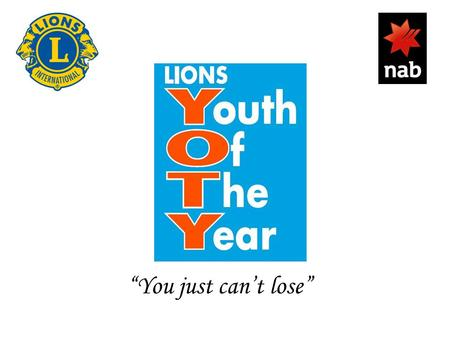"""You just can't lose"". So, …. You are running the Youth of the Year Final !! WHAT DO YOU DO NOW????"
