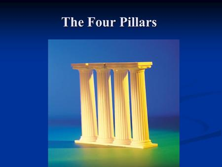 The Four Pillars. Four Pillars Medication Self-Management Medication Self-Management Patient Centered Health Record Patient Centered Health Record (PHR)