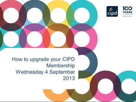 How to upgrade your CIPD Membership