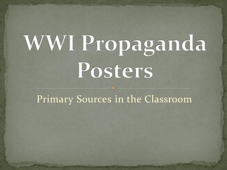 Primary Sources in the Classroom. It is information that is spoken or written in a way that convinces people into believing something or taking action.