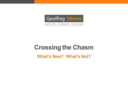 Crossing the Chasm What's New? What's Not?. Disruptive Innovation What Makes High-Tech Marketing Different? High Risk Unproven products and promises Incompatible.