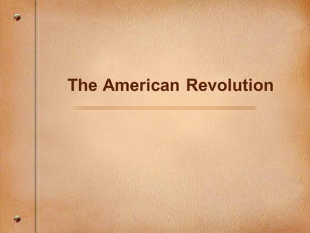 an overview of the causes of the american revolution This 5th grade unit will have students review and understand the causes of the american revolution and the different perspectives involved unit overview.
