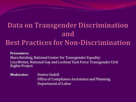 transgenders and the discrimination of homosexuals in american institutions