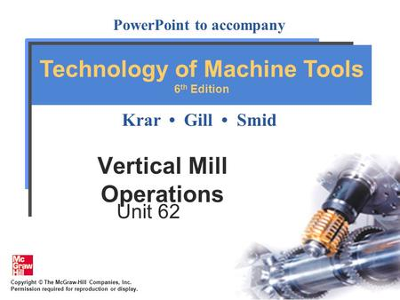 Vertical Mill Operations