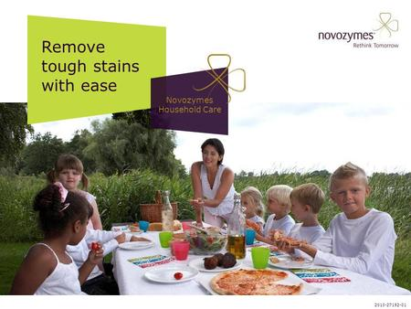 Remove tough stains with ease Novozymes Household Care 2010-27192-01.