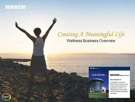 Creating A Meaningful Life Wellness Business Overview BACK.
