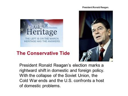 a study of ronald reagans domestic and foreign affairs Think again: ronald reagan that last phrase was the key america's enemies would pay the price, not the american people americans loved reagan's foreign.