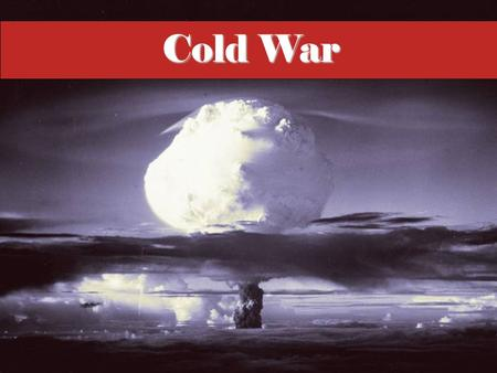 "Cold War The era known as the ""Cold War"" lasted roughly from the close of World War II until the end of the 1980s. Rather than military combat, rivalry."