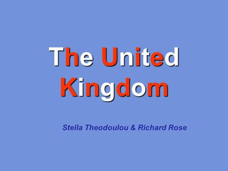 Stella Theodoulou & Richard Rose