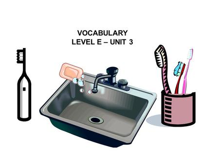 VOCABULARY LEVEL E – UNIT 3.