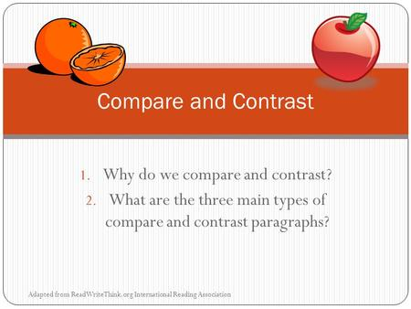 Why do we write compare and contrast essays