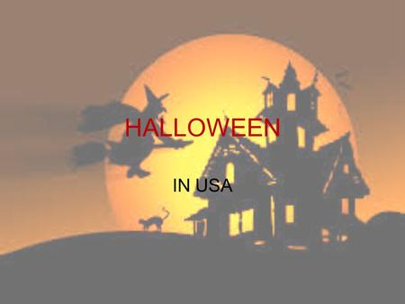 HALLOWEEN IN USA.