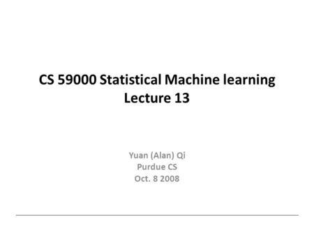 purdue machine learning