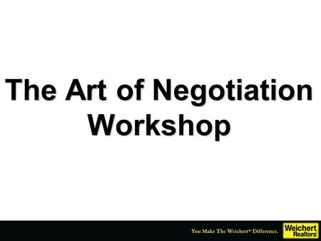 The Art of Negotiation Workshop