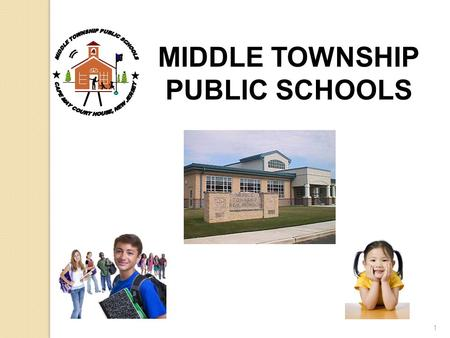 1 MIDDLE TOWNSHIP PUBLIC SCHOOLS. MIDDLE TOWNSHIP PUBLIC SCHOOLS BOARD OF EDUCATION Calvin Back, President Dennis Roberts, Vice President Robert Bakley,